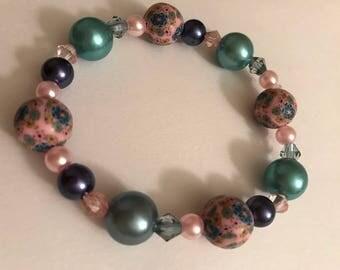 multi color bead bracelet