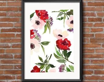 Watercolor Floral DIGITAL DOWNLOAD