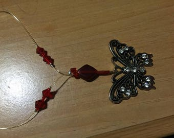 red Swavorsky crystal butterfly charm