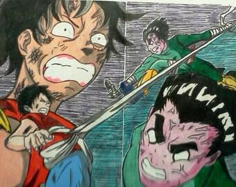 Luffy VS. Rock Lee!