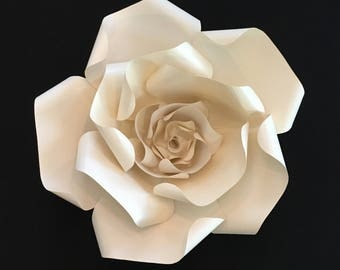 Large paper flower- cream