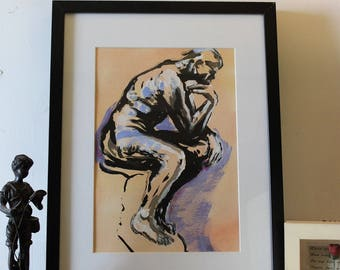 According to A. Rodin the thinker
