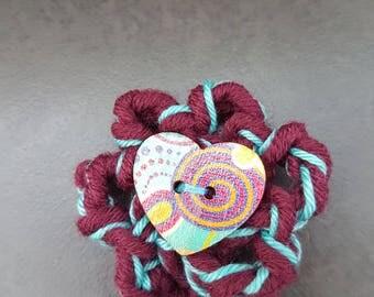Brooch, crochet