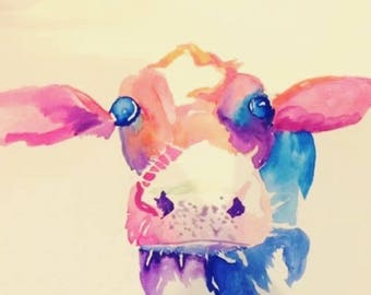 Custom Watercolours - Cow