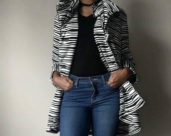 Vintage 90s Black & White Oversize Party Jacket