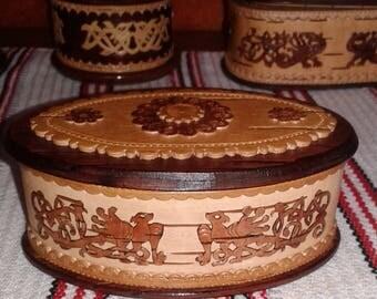 Birch bark jewelery box
