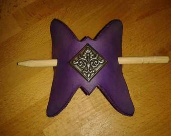 Barrette leather handmade