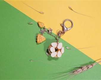 Biscuits and donuts key chains