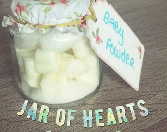 Jar of hearts. Wax melts. Wax tarts. Wax mini hearts. Natural Soy wax.