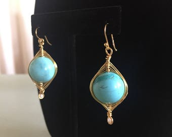 Beautiful turquoise earrings