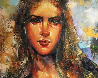 Oil Painting, Woman, Portrait, Contemporary Painting,
