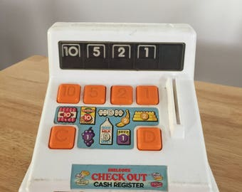 Shelcore Check Out Toy Cash Register - Vintage (1987)