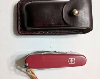 Combo Custom Leather Sheath and Champion Swiss Army Knife