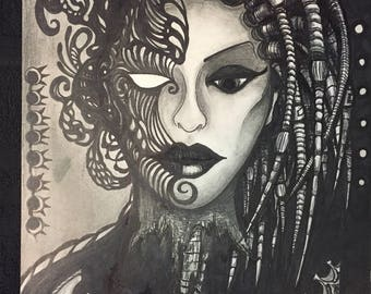 Biomech Masquerade Dredd Girl
