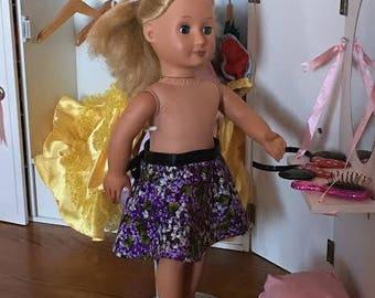 18 inch doll purple skirt
