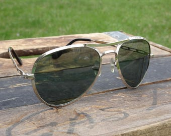 Vintage Japanese Aviator Sunglasses #546 | Cool Shades | Vintage Sunglasses | Aviator Sunglasses | Hipster Glasses | Pilot Glasses