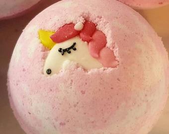 Pink Unicorn Bath Bomb