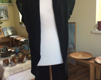 Black Short Sleeves Cardigan/Vest