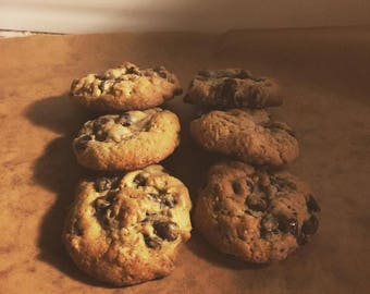 Oatmeal Chocolate Chip and Oatmeal Raisin Cookies