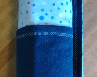Baby Flannel Blue Dot or Yellow Cloud Moon Stars Baby Blanket Snuggle Sweet Dreams ~ Baby Shower Boy Girl