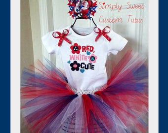Fourth of July Tutu Set 4th NB 0-3 3-6 6-9 12 18 24 month months mths