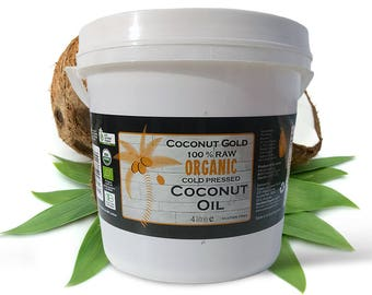 100% Certified Organic Coconut Oil 4 Liters