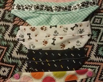 Hand made pet bandanas