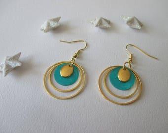 Earrings golden rings