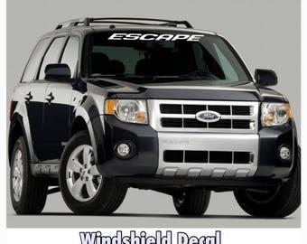 1950-2017 Ford Escape Vinyl Windshield Body Decal Sticker New Custom 1PC 10 Colors