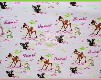 Bambi Deer Disney Jersey lilac Kunterbunter Jersey lilac purple fabric