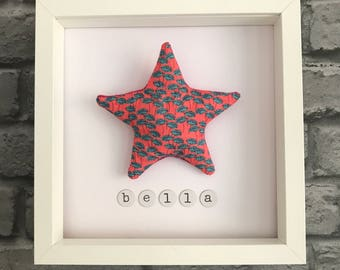 Personalised & framed star picture