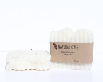 Coconut Almond Handmade Natural Organic Soap Bath Beauty Bar