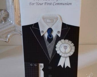 First Holy Communion Hand Crafted Gift Card / Voucher Wallet For Boy