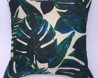 Tropical Leaf Cushion Cover
