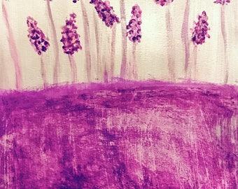 Draw lavender breaths.