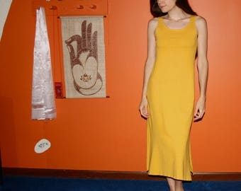organic nightgown / long tank dress - 100% hemp and organic cotton - custom made to order - hand dyed - RESERVED