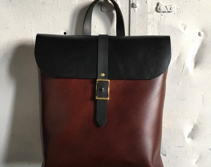 Special edition cherry and slate rucksack tote