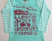 Girl's Breckenridge  custom drawn  design on Mint L...