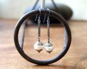 Tibetan Pearl Earrings - Pearl Earrings - White Pearl Earrings - Industrial Rustic Jewelry - June Birthstone - bohemian jewelry - boho chic