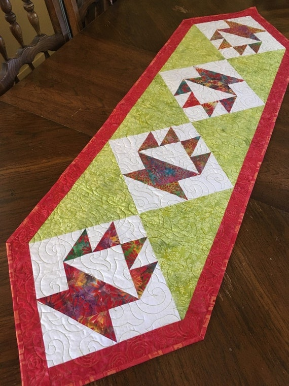 PDF Table Runner Pattern - Celebration, Easy quilt pattern for making a long table runner using ...