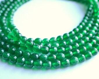 Michelle - Emerald Green Jade Statement Necklace