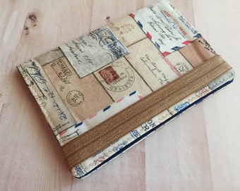 Unisex Passport Cover - Passport Wallet - Vintage letters passport cover - fabric passport case - Unisex single passport holder