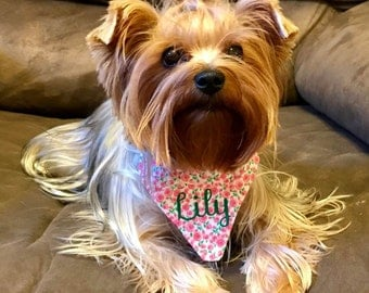 Vinyl One Word Personalization Add-On for Dog Bandanas