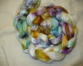 Hand Dyed Bamboo top for Hand Spinning Yarn
