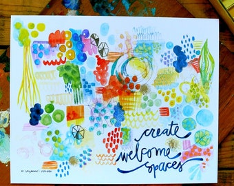 create welcome spaces - 8 x 10 inches
