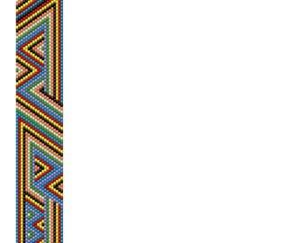 Aztec Inspired Peyote Cuff Tutorial