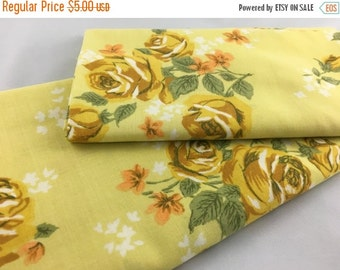 SALE- Vintage Floral Fabric-  Reclaimed Vintage Bed Linens Fabric