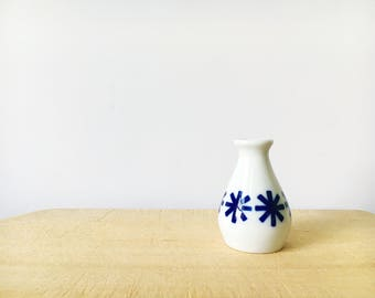 Vintage Small Sargadelos Vase made in Spain MCM blue and white
