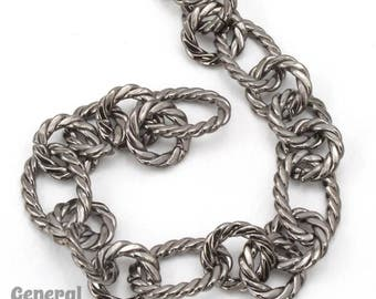Gunmetal 17mm x 12mm Oval and 11mm Round Link Chain #CC231