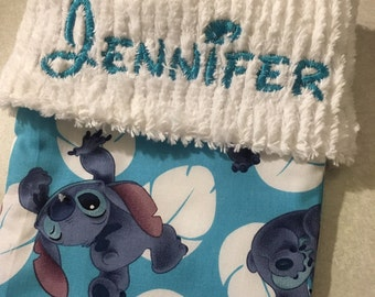 Disney's Stitch and Chenille Handmade Christmas Stocking FREE US SHIPPING